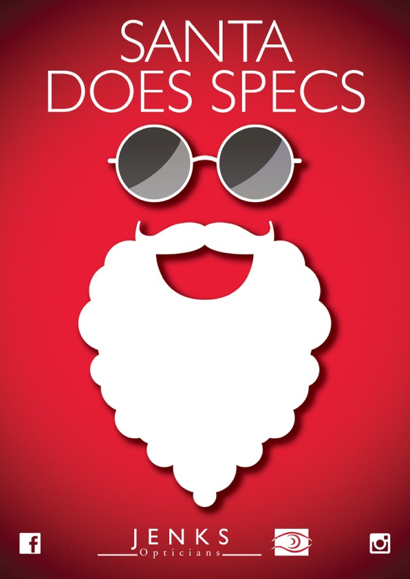 Santa does specs, christmas promotion